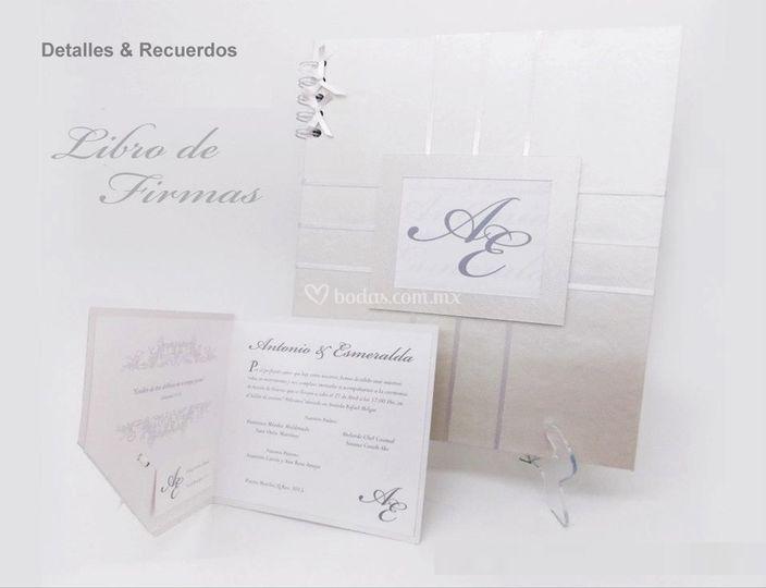 Libro de firmas elegante