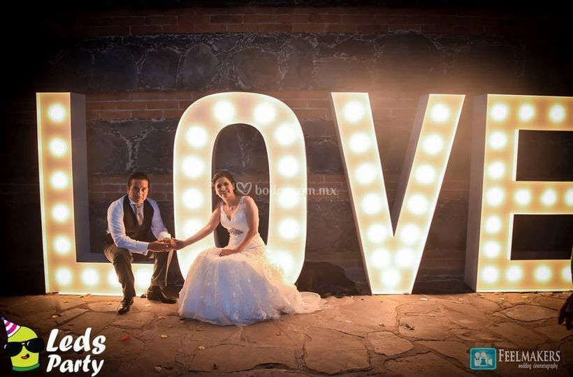 Letras gigantes para tu boda