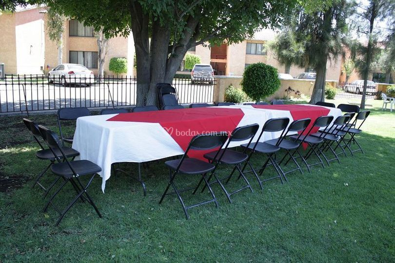 Combo fiesta for Alquiler mesas sillas