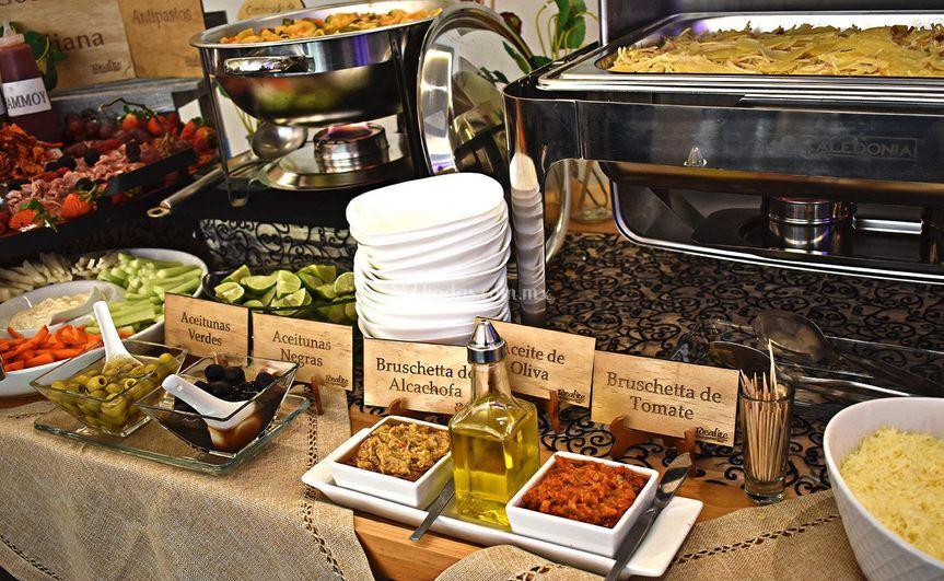 Mesa gourmet italiana