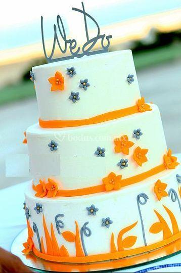 Pastel de bodas único