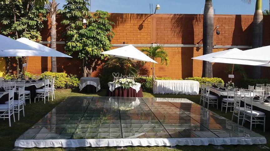 Terraza ivanely Jardin villa trisara cuernavaca