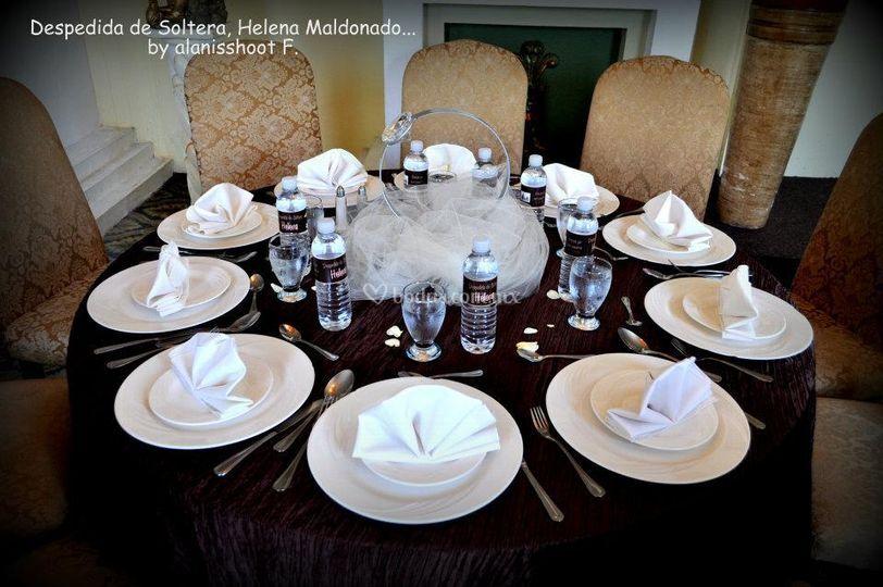 Cento de mesa sortija