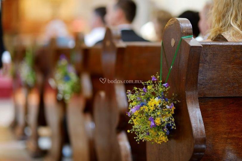 Decoración en ceremonia