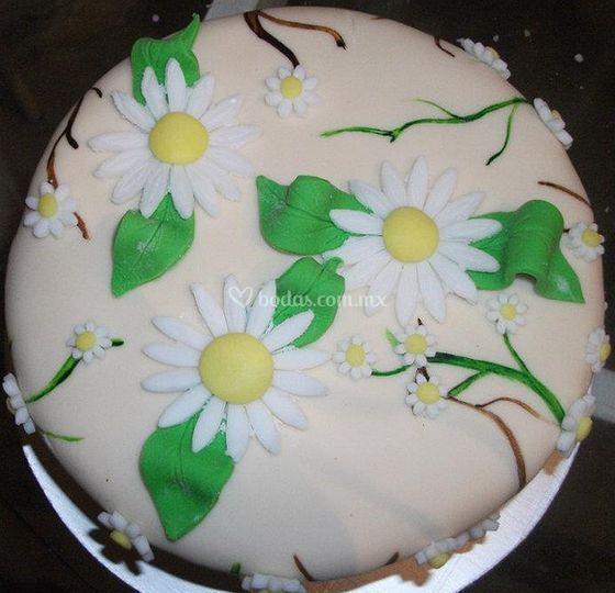 Decoración De Pastel De Flores De Kukis Art Foto 2