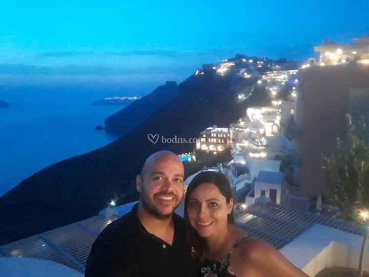 Luna de miel en Santorini