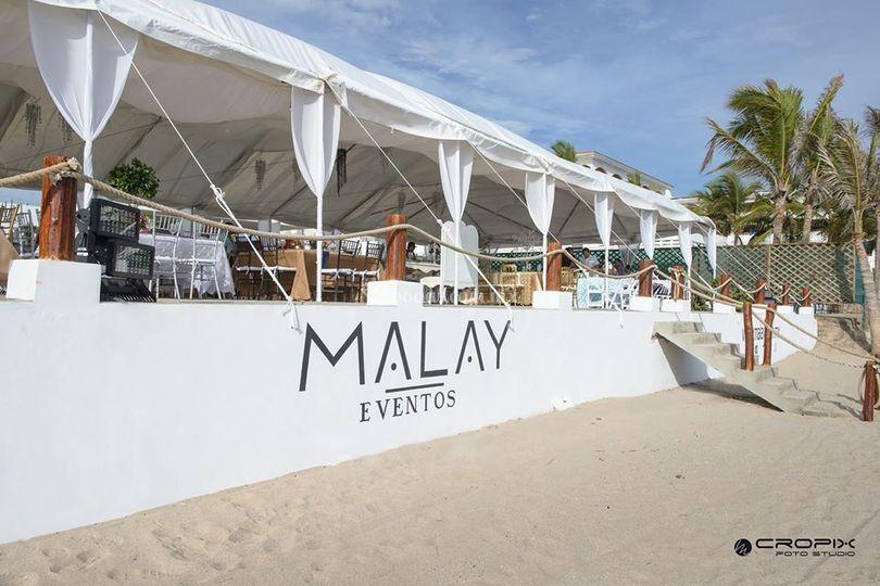 Vista desde la playa de Malay Club de Playa & Salón