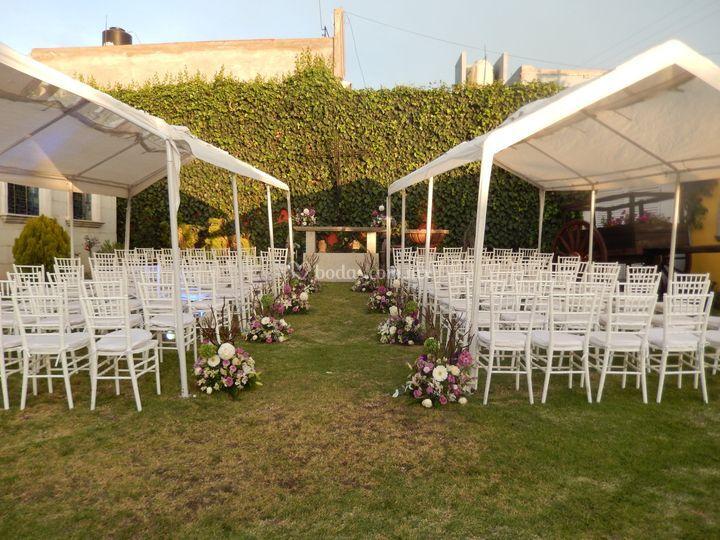 Jardin para ceremonia civil