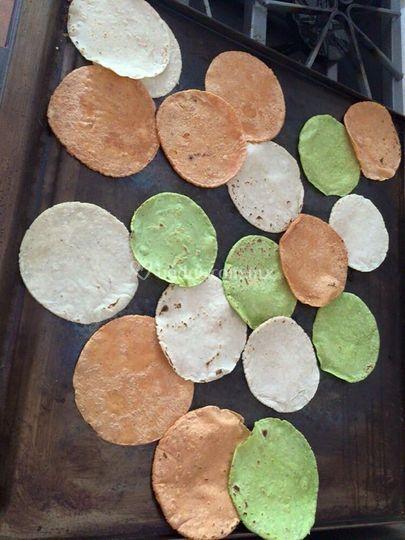 Tortillas al comal