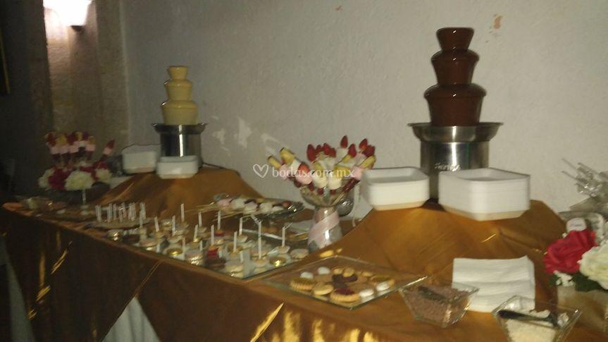 Renta de fuentes de chocolate