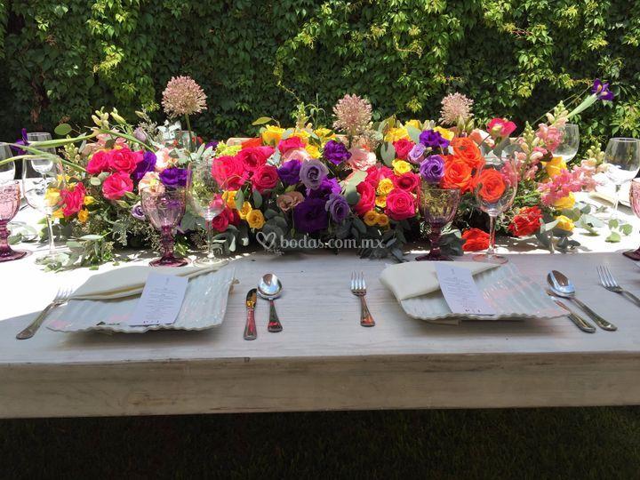 Centro de boda de mesa