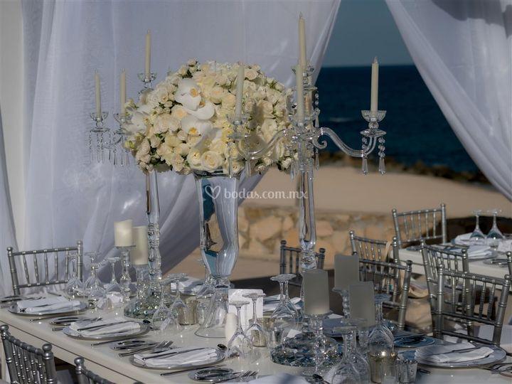 Elegante centro de mesa