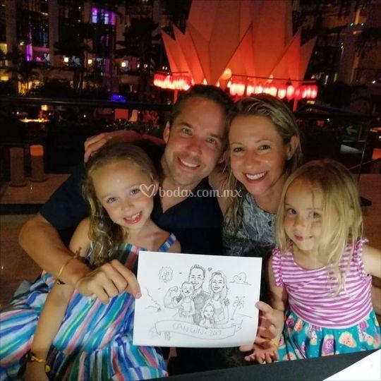 Familia y caricatura