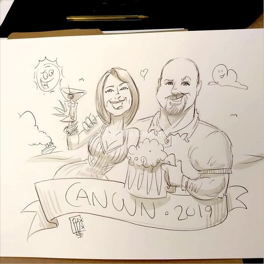Caricatura juntos