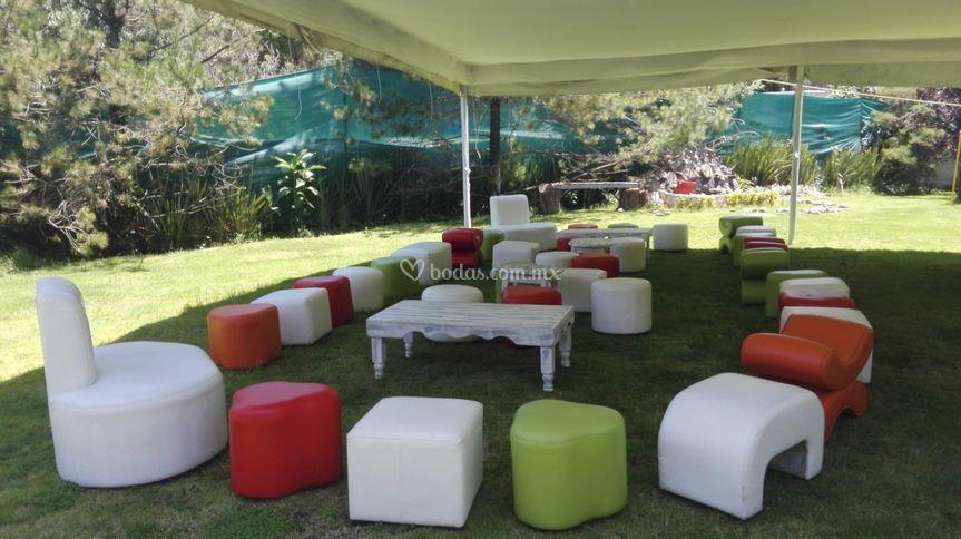 Salas lounge colores