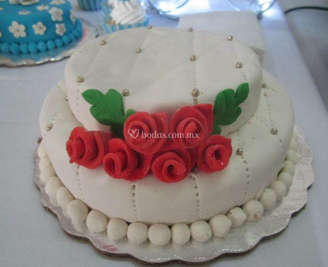 Decoración con perlas y flores dulces