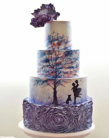 Pastel temático boda