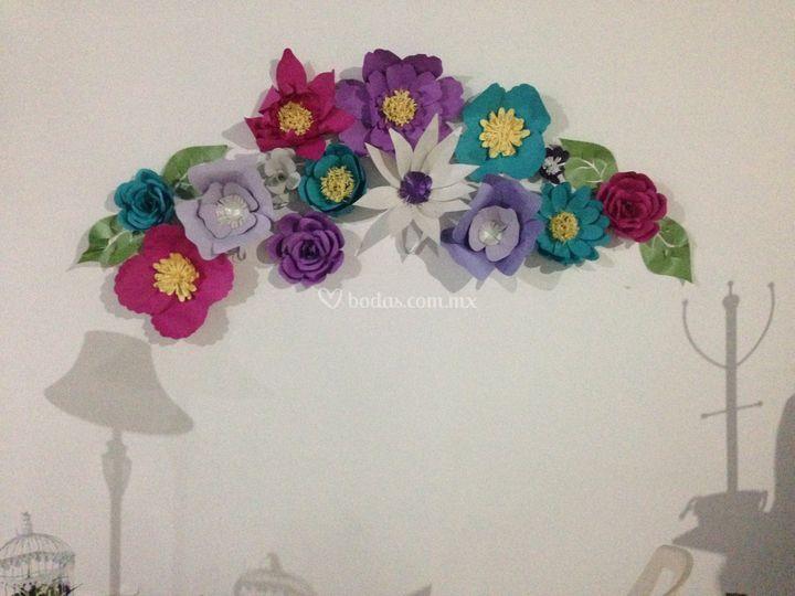 Bouqués de Flores de Papel