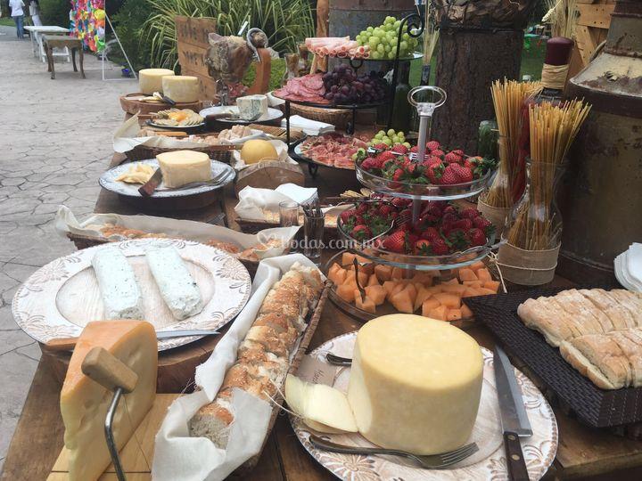 Mesa de quesos de calidad