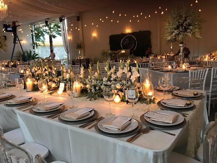 Área de mesas