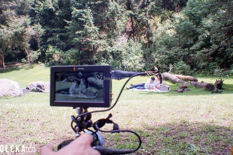 El detrás de cámaras