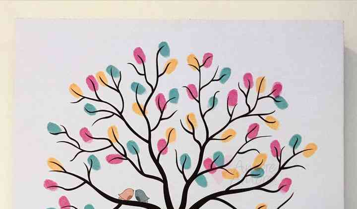 Árbol impreso en Canva/Lienzo