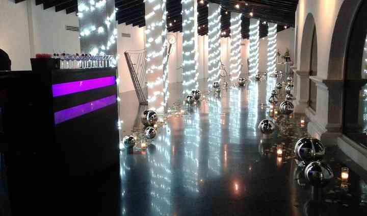 Lobby iluminado
