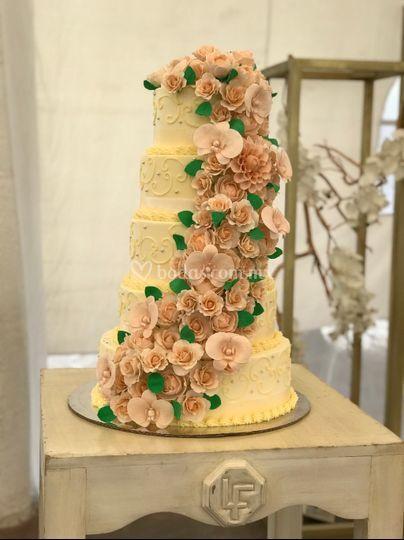 Pastel de boda gum paste
