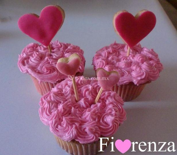 Cup cakes con mini galletas