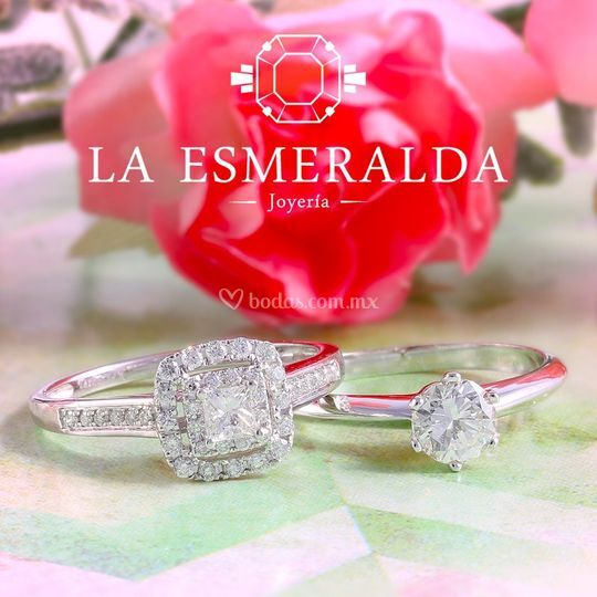 44508b0815e1 Joyería La Esmeralda Argollas con diamante Argollas con diamante Anillos de  compromiso