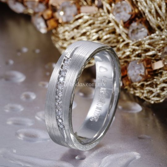 Argollas con diamante