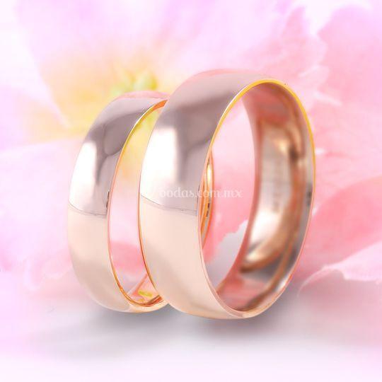 Argollas oro rosa