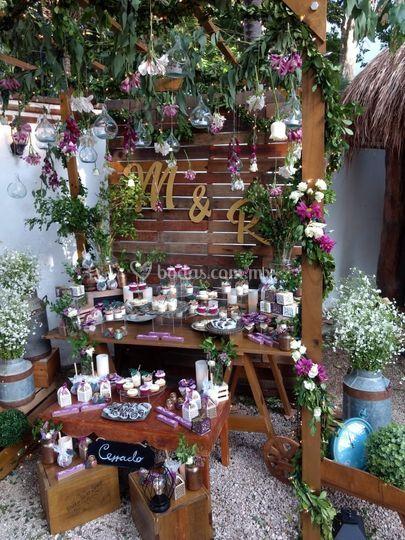 Mesa mixta boda