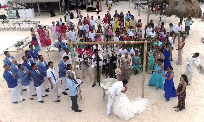 Su boda desde dron