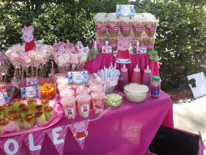 Creaciones happyland mesas de postres - Postres para mesa de dulces ...