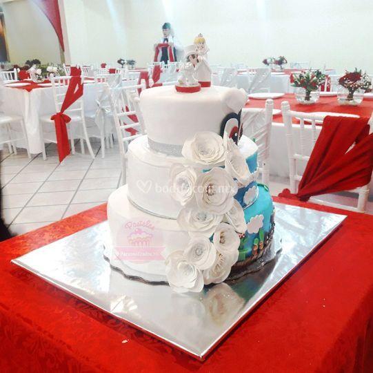 Pastel boda Mario Bros