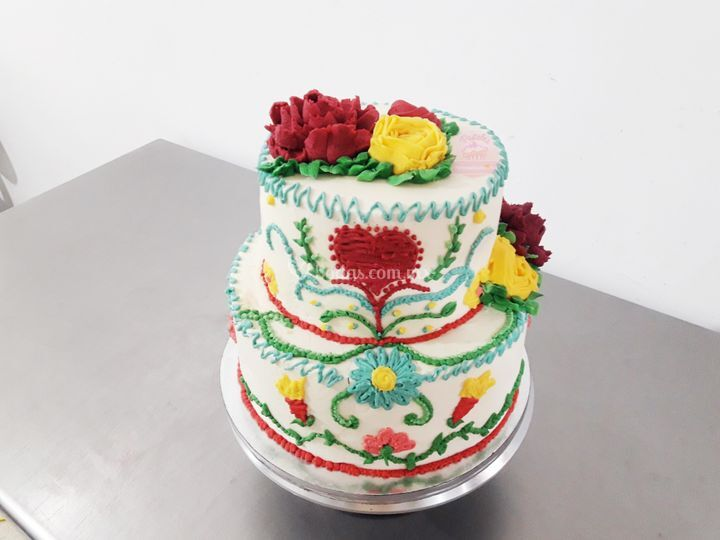 Pastel betún boda mexicana