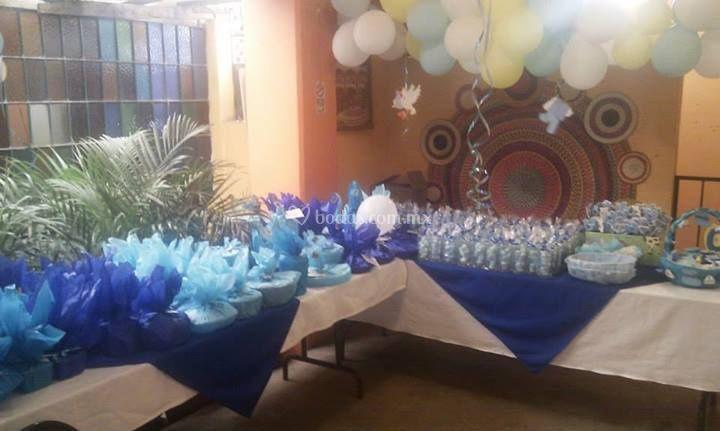 Mesa de regalos para invitados