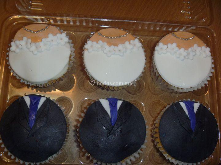 Cupcakes Novio y novia