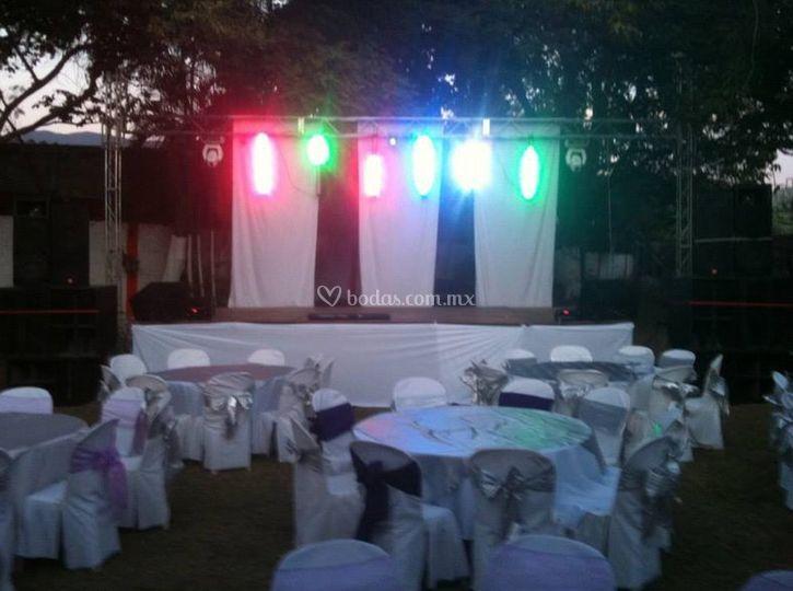 Iluminación del escenario