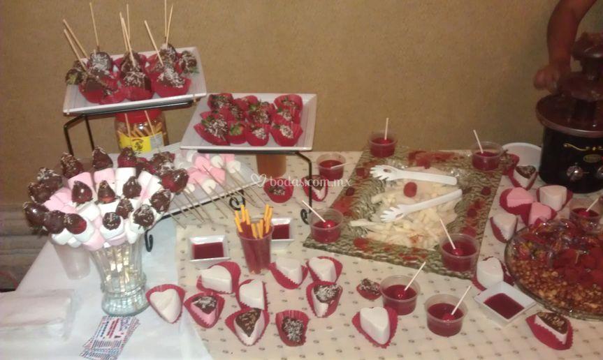 Mesa de fresas