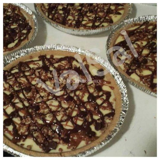 Pie de queso con chocolate