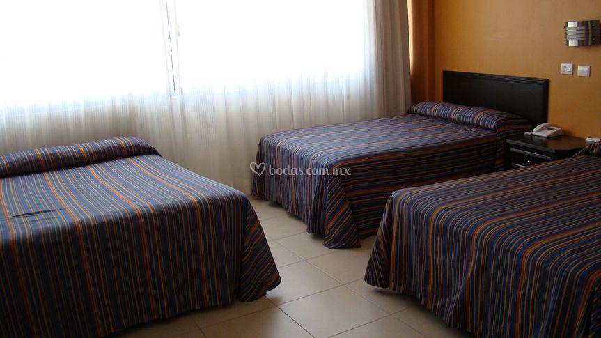 Habitación 3 camas