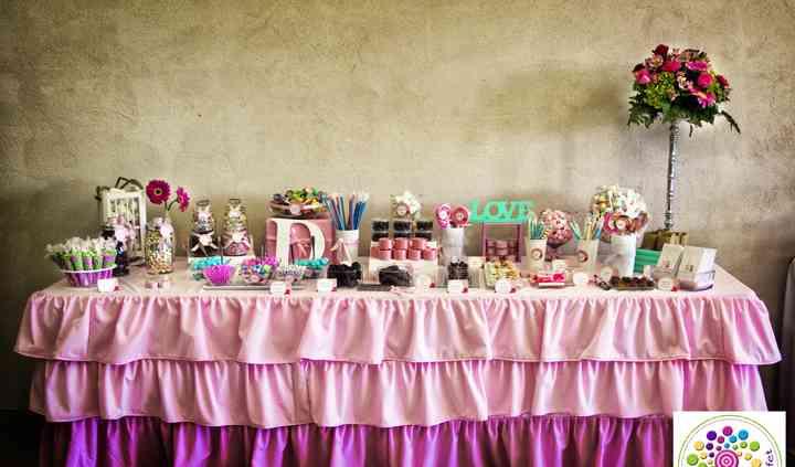 Mesa gourmet de dulces