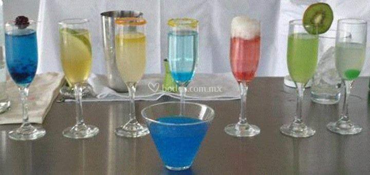Bebidas en distintas presentaciones