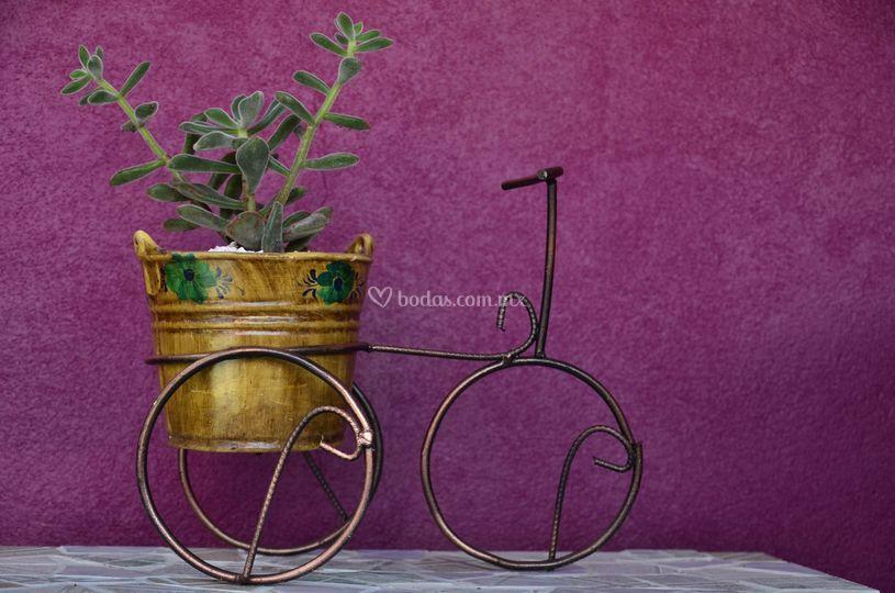Macetero bicicleta mediana
