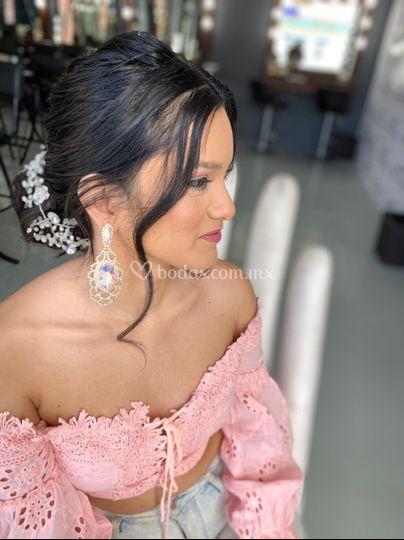 Brianda Texta Bride's makeup