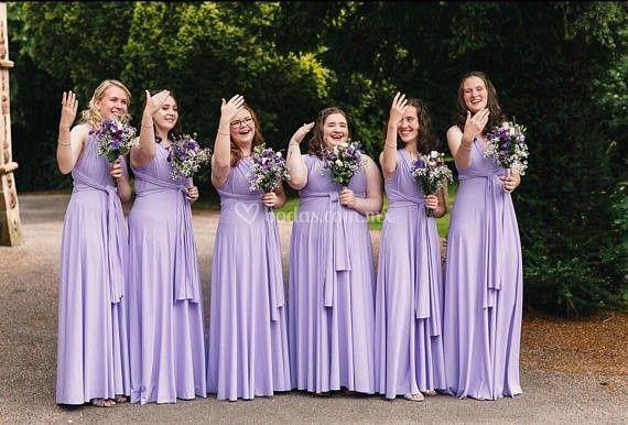 Vestido Convertible lila