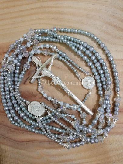 Lazo de boda con perlas