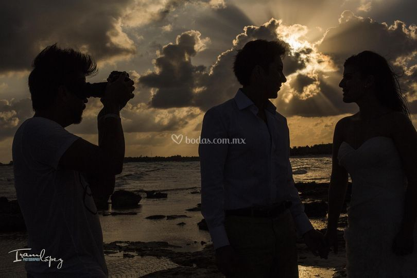 En boda destino de playa